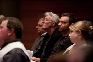 Actor Richard Gere at the performance of Numinous City, New York, 2011
